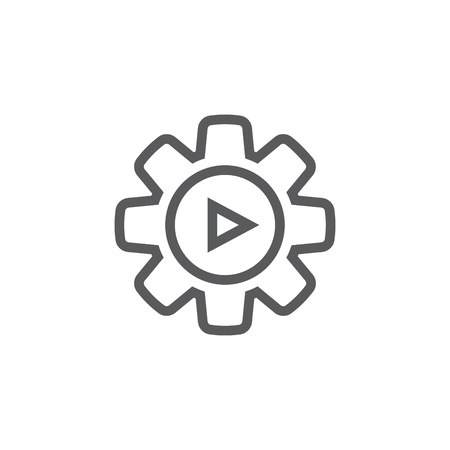Video teaching and training - informational video icon w video button