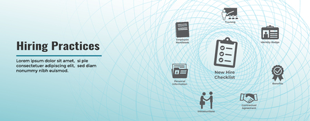 Hiring Practices icon set & web header banner