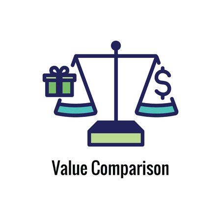 Competitive Pricing Icon Showing an aspect of  Pricing, Growth, Profitability, Worth