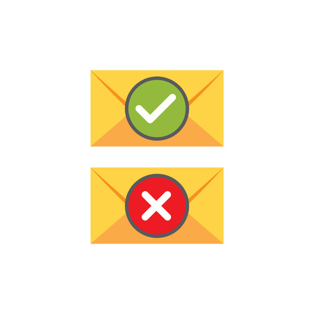 Email Marketing Rules & Regulations Icon  with Unsubscribe Idea Stock Illustratie