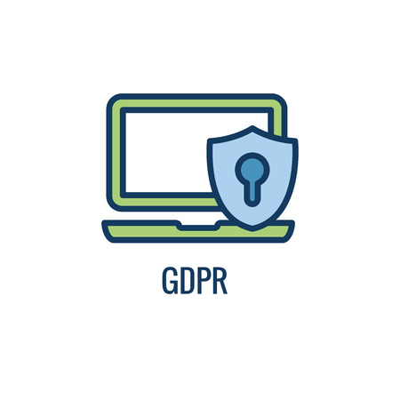 Email Marketing Rules & Regulations Icon  with GDPR Idea