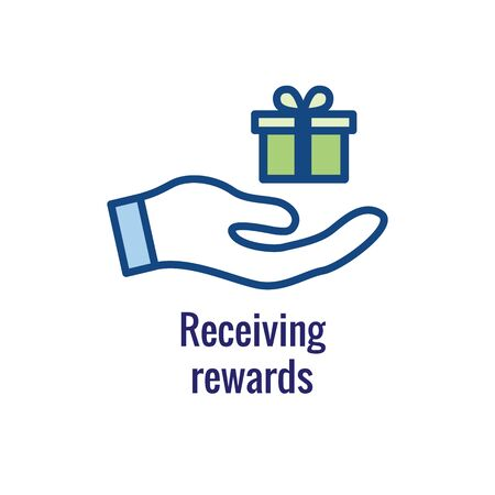 Customer Rewards Icon : Money Concept and Reward   Discount Image Ilustrace
