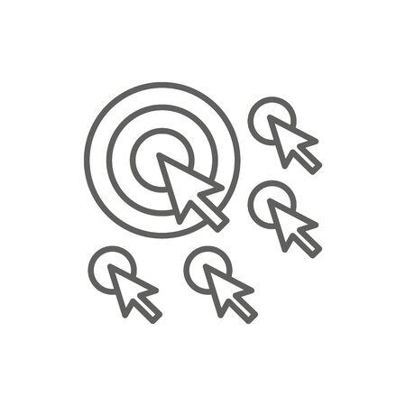 Website clicks icon ; pointer icon - unscrupulously acquiring website clicks Иллюстрация
