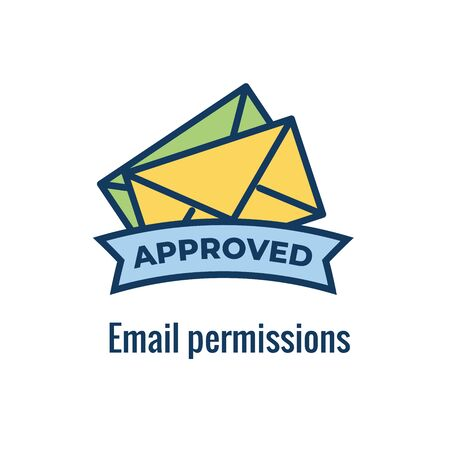 Email Marketing Rules & Regulations Icon  with Email Marketing Rule Idea Illustration