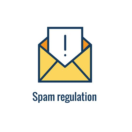 Email Marketing Rules & Regulations Icon  with Email Marketing Rule Idea Stock Illustratie