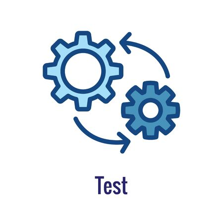 DevOps Icon - Dev Ops Icon Showing an part of the process  イラスト・ベクター素材