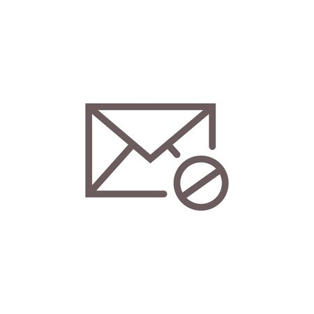 Email Marketing Rules & Regulations Icon with Email Unsubscribe Rule Idea
