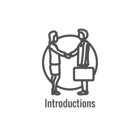 Hiring Process icon that shows an aspect of being a new hire Ilustrace