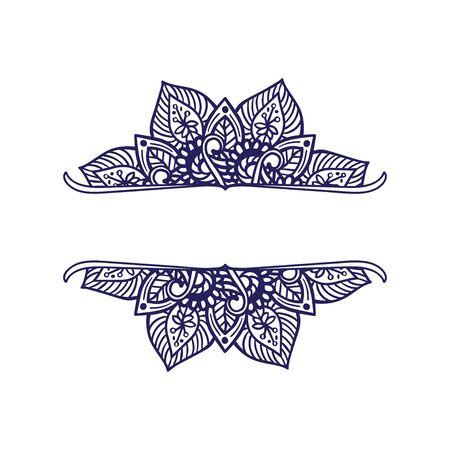 Indian Mandala design - floral elements and shapes