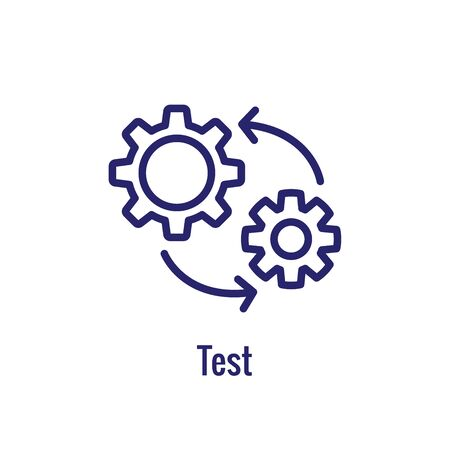 DevOps Icon - Dev Ops Icon Showing an part of the process 일러스트
