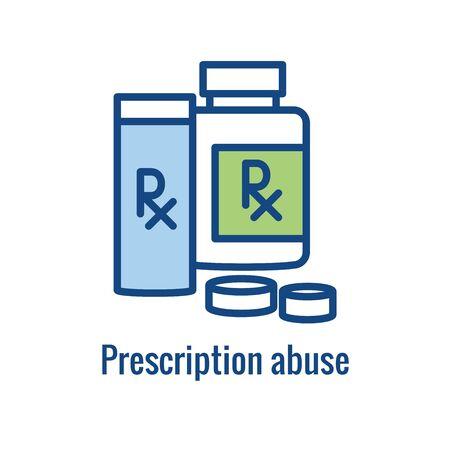 Drug and Alcohol Dependency Icon showing drug addiction imagery Ilustração