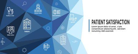 Patient Satisfaction Icon Set - Web Header Banner