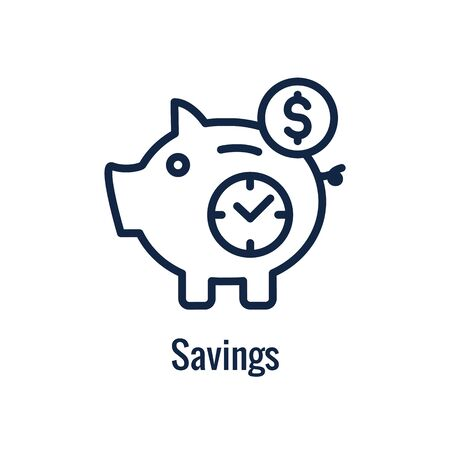 Retirement Savings Icon w retiring and monetary images