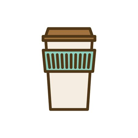 Coffee icon w green brown and dark brown colors 版權商用圖片 - 129336581