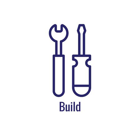 DevOps Icon - Dev Ops Icon Showing an part of the process Illustration