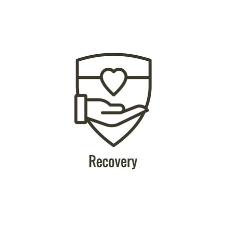Drug and Alcohol Dependency Icon showing drug addiction imagery Ilustração