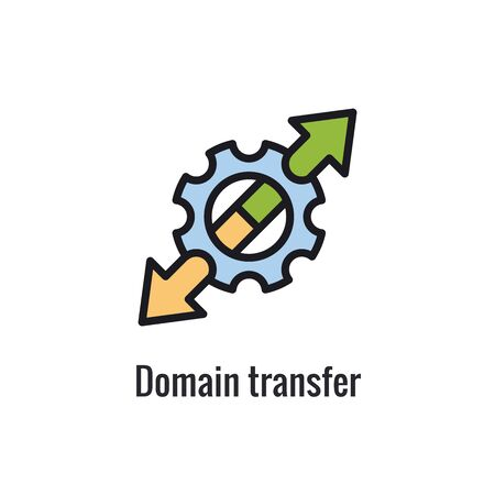 Website Data Transfer Icon - arrow imagery of transfer