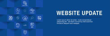 Website Update Icon Set & Web Header Banner