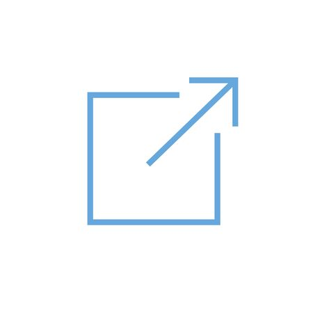 External link icon that has square and arrow imagery