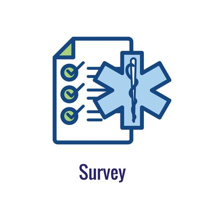 Patient Satisfaction Icon - patient experience imagery and rating idea