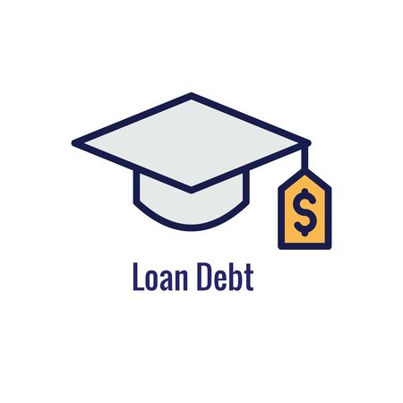 Student Education Icon - imagery depicting the education process and payment