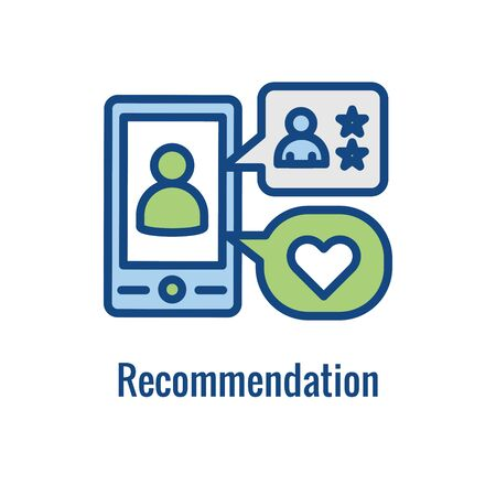 Employee Referral Process Icon showing networking, Recommendation, and reference
