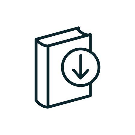 Ebook digital download icon w book and arrow