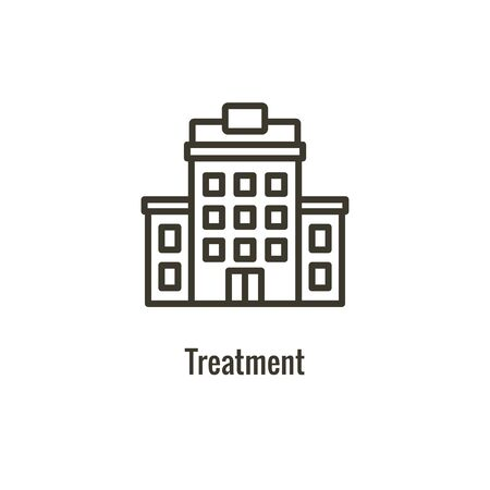 Drug and Alcohol Dependency Icon showing drug addiction imagery Banque d'images - 132035150