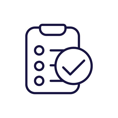 In Compliance Icon w paper, checks and list Ilustrace