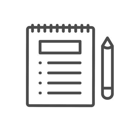 In Compliance Icon w paper, checks and list Illustration
