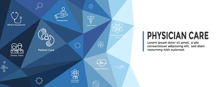 Physician Care Icon Set & Web Header Banner