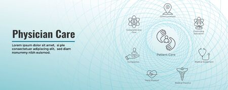 Physician Care Icon Set & Web Header Banner