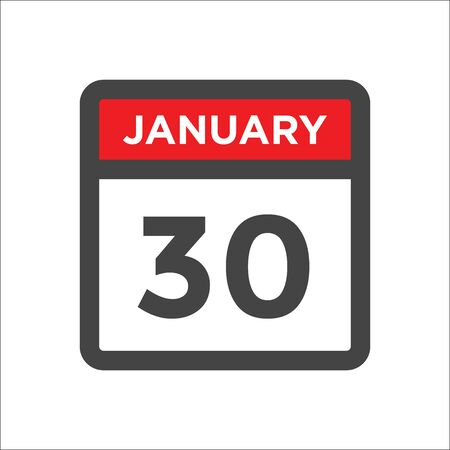 January 30 calendar icon w day of month