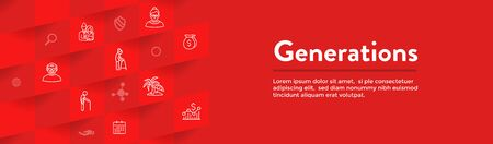 Generations Aging Web Header Banner and Icon Set