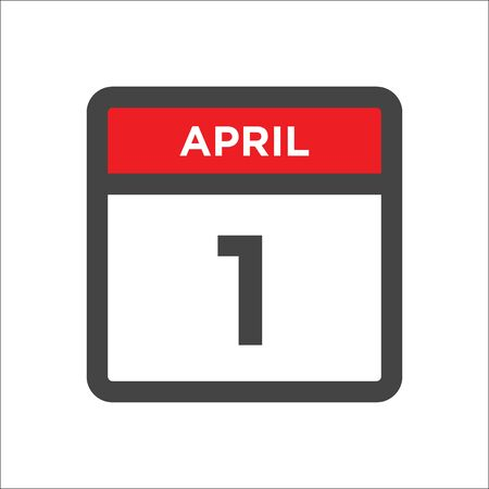 April 1 calendar icon with day and month