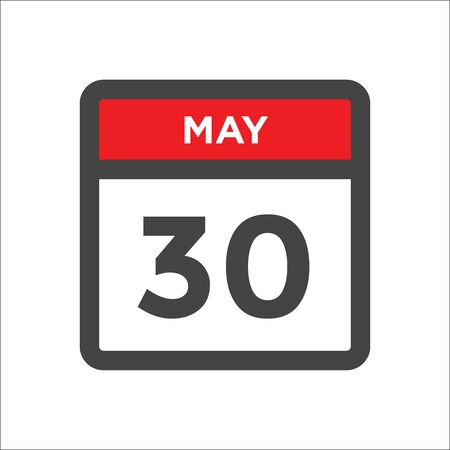 May 30 calendar icon - day of month
