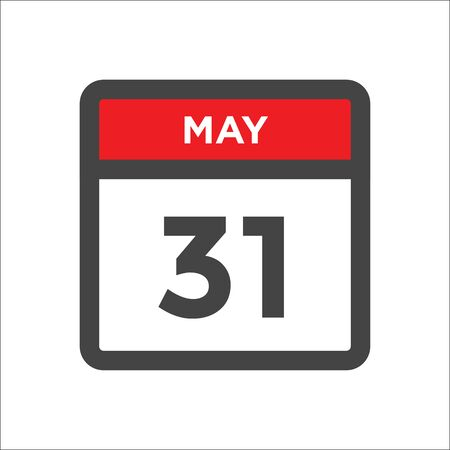 May 31 calendar icon - day of month