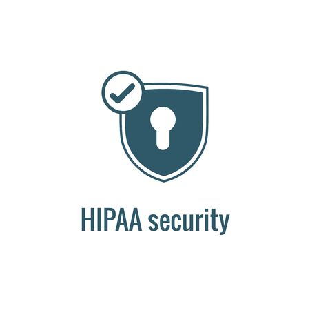 HIPAA Compliance icon set - hippa image involving medical privacy