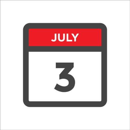 July 3 calendar icon with the day of month