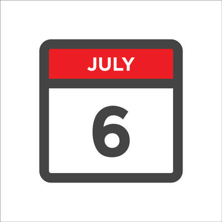 July 6 calendar icon with the day of month