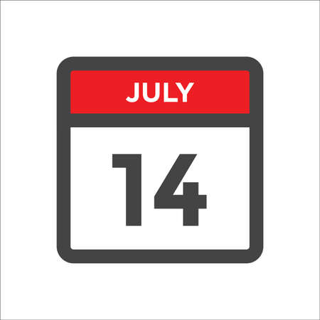 July 14 calendar icon with the day of month