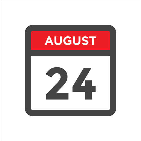 August 24 calendar icon with day and month