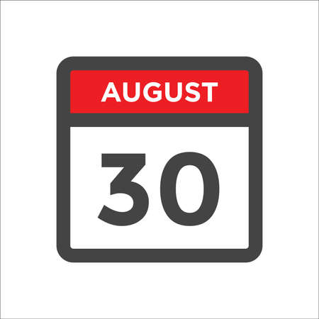 August 30 calendar icon with day and month