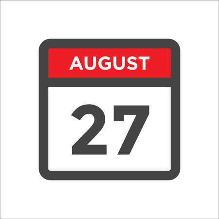 August 27 calendar icon with day and month