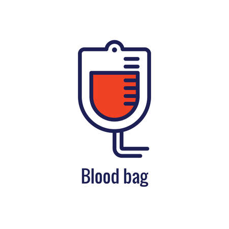Blood testing & work icon showing one aspect of the blood draw process