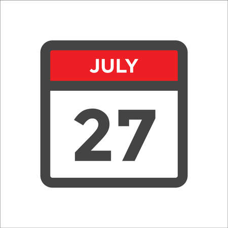July 27 calendar icon with the day of month