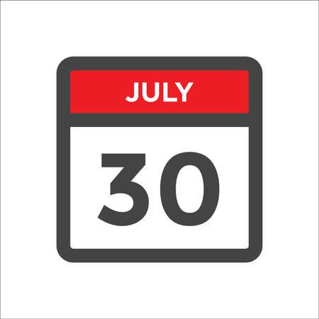 July 30 calendar icon with the day of month