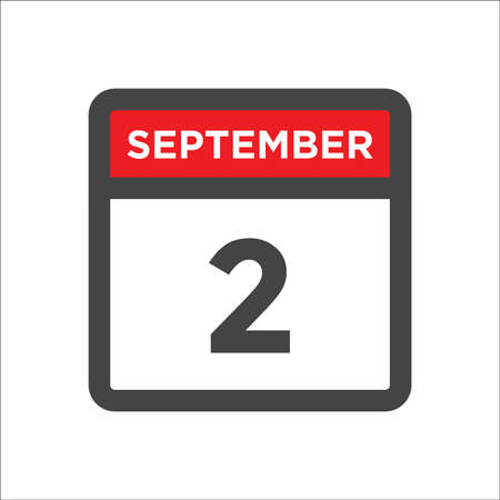 September 2 calendar icon with day & month