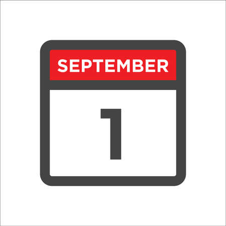 September 1 calendar icon with day & month