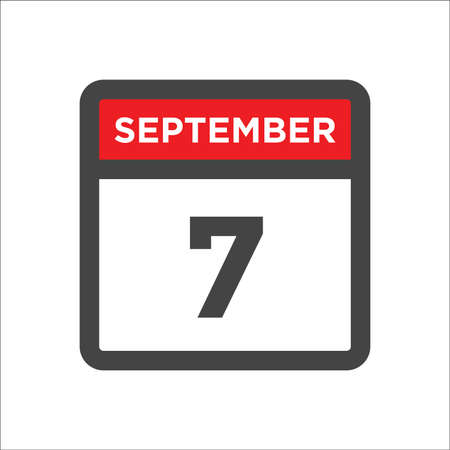 September 7 calendar icon with day & month